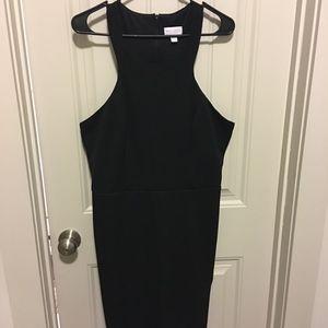 Racerback Black Cocktail Dress